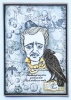 Edgar Allan Poe A5 Red Rubber Stamp