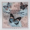 Flutterby Dinkie A7 Red Rubber Stamp