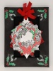 Nutcracker Wreath A6 Red Rubber Stamp by Janine Gerard-Shaw