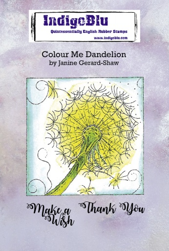 Colour Me Dandelion A6 Red Rubber Stamp