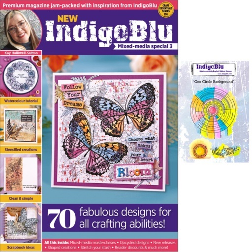 IndigoBlu Mixed Media Magazine Box Kit Stamp Bundle