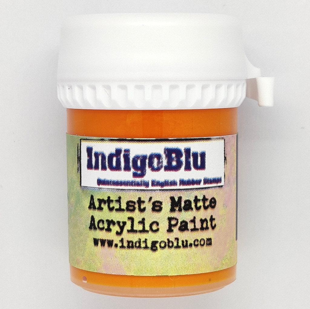 Artists Matte Acrylic Paint - Burning Bonfire