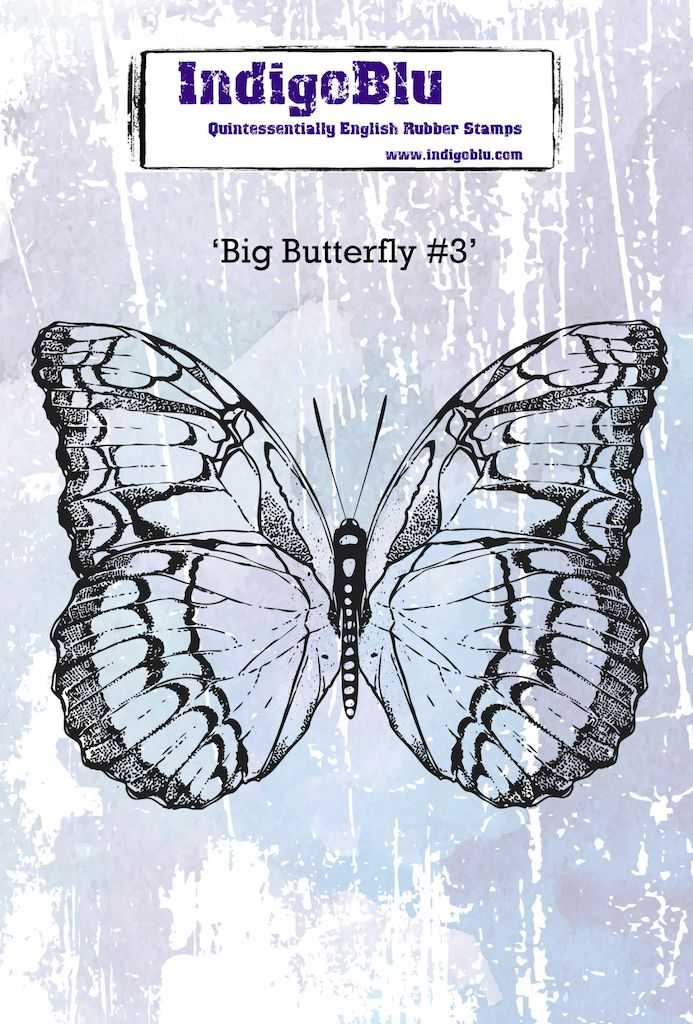 Big Butterfly 3 A6 Red Rubber Stamp