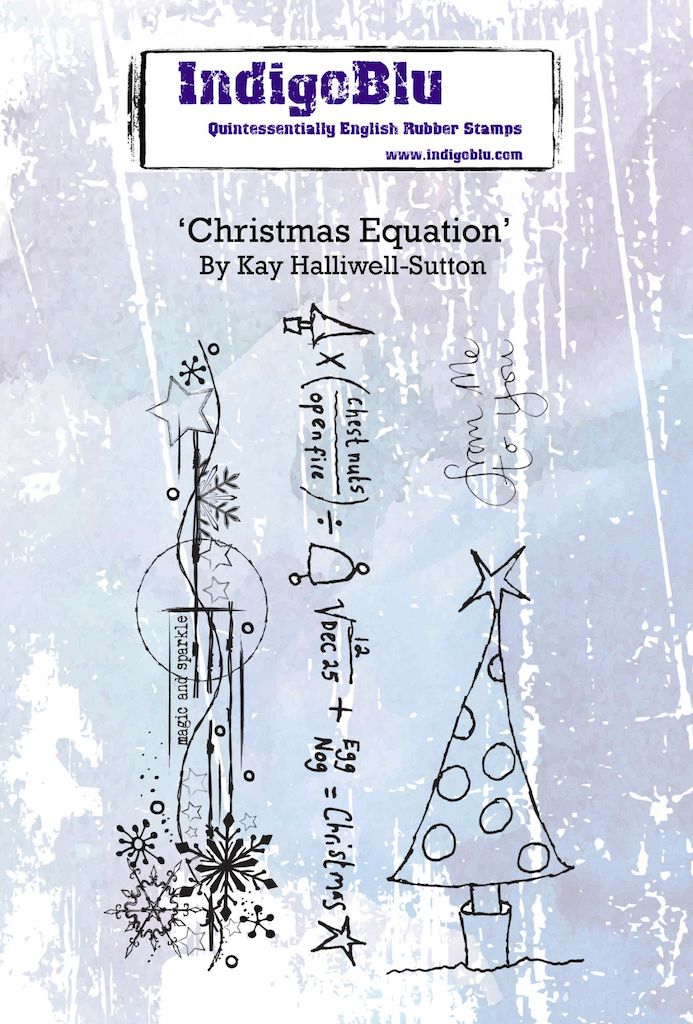 Christmas Equation A6 Red Rubber Stamp