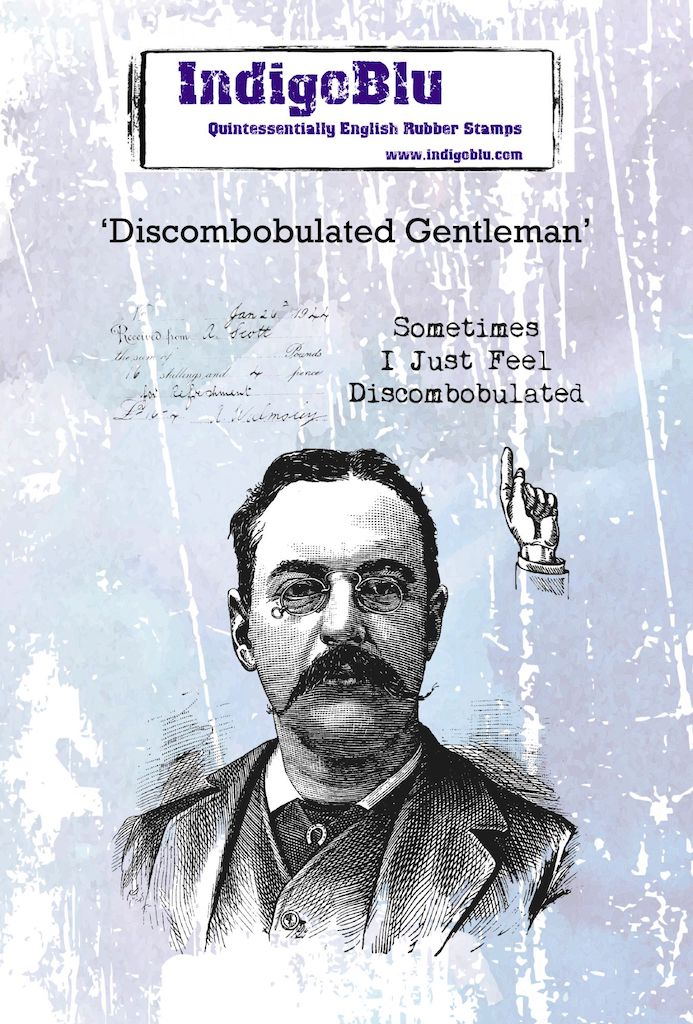 Discombobulated Gentleman A6 Red Rubber Stamp