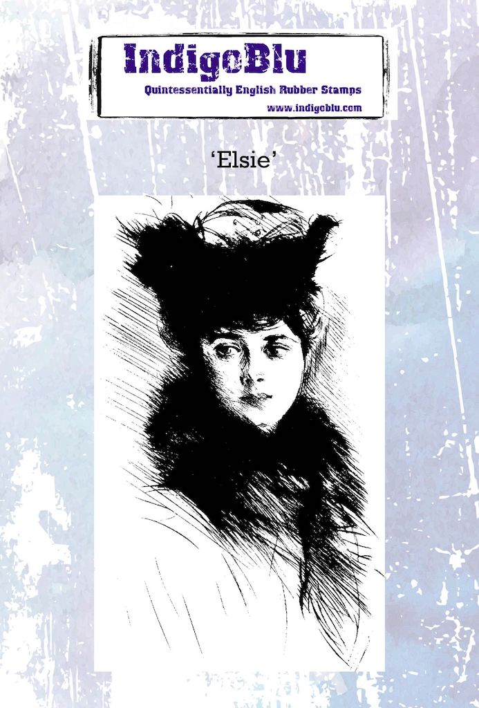 Elsie A6 Red Rubber Stamp