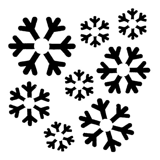 Inky Dink Stencil - Christmas Snowflake (3x3 inch)