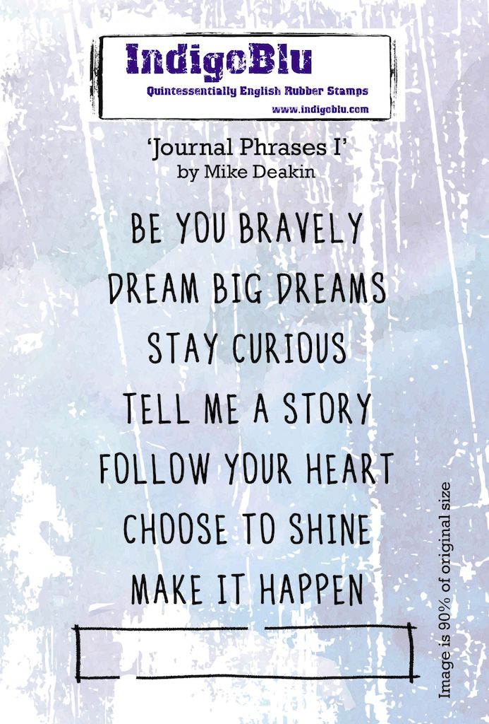 Journal Phrases I A6 Red Rubber Stamp