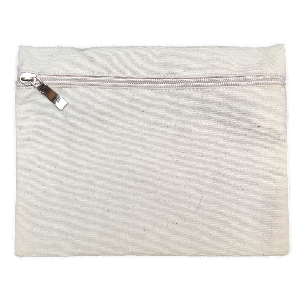 Natural Canvas Make-up Bag (210x160x10mm)