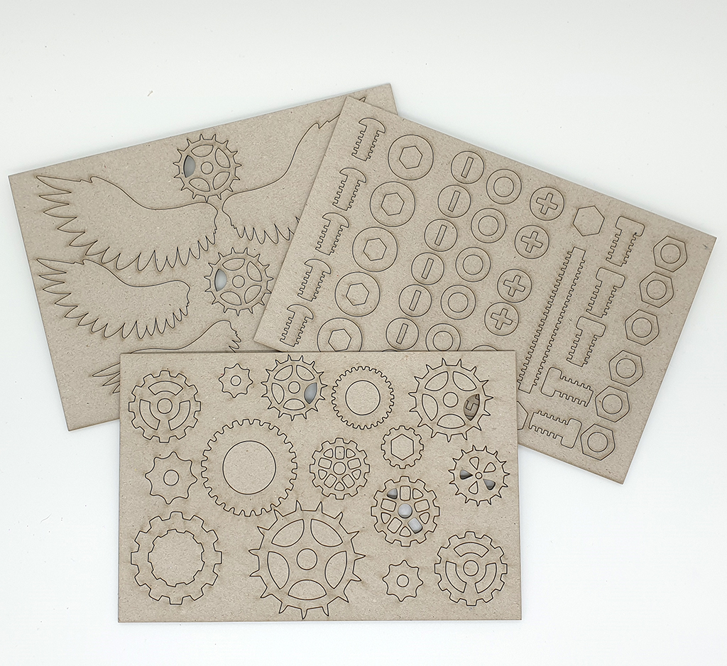 Steampunk embellishments - 3 sheets - 180mm x 120mm