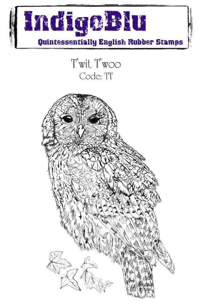 Twit Twoo A6 Red Rubber Stamp