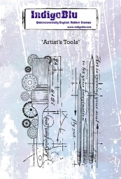Artist's Tools A6 Red Rubber Stamp by Kay Halliwell-Sutton