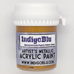 Artists Metallic Acrylic Paint - Goldfinger (20ml)