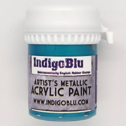 Artists Metallic Acrylic Paint - Kingfisher Blue (20ml)