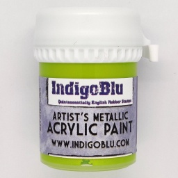 Artists Metallic Acrylic Paint - Lime Sherbet (20ml)