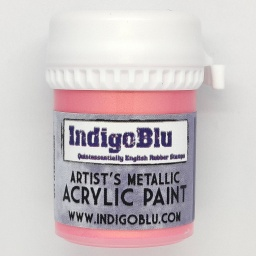 Artists Metallic Acrylic Paint - Pink Gin