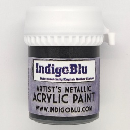 Artists Metallic Acrylic Paint - Raven Black (20ml)