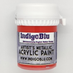 Artists Metallic Acrylic Paint - Ruby Slipper (20ml)