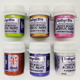 Artists Metallic Acrylic Paint - Set 2 (6x20ml)