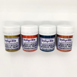 Artists Metallic Acrylic Paint - Set 3 (4x20ml)
