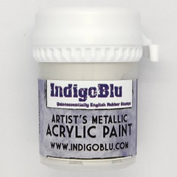 Artists Metallic Acrylic Paint - Snow White (20ml)