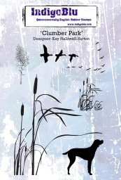Clumber Park A6 Red Rubber Stamp by Kay Halliwell-Sutton