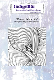 Colour Me - Lily A6 Red Rubber Stamp by Kay Halliwell-Sutton