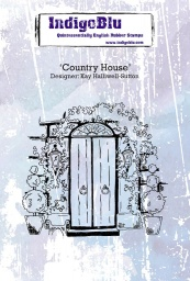 Country House A6 Red Rubber Stamp by Kay Halliwell-Sutton