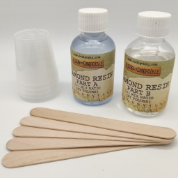 Diamond Resin Kit - 8oz kit with cups and stirrers