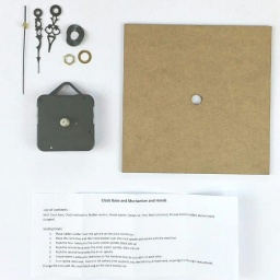 Double Square Small Clock Kit (145mm diameter) with mechanism and hands