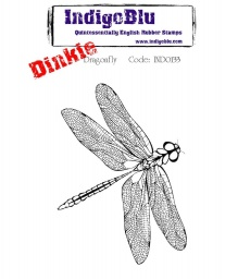Dragonfly Dinkie A7 Red Rubber Stamp