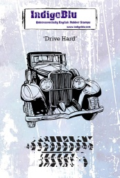 Drive Hard A6 Red Rubber Stamp