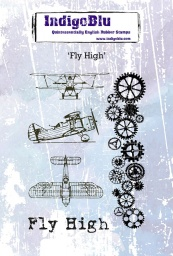 Fly High A6 Red Rubber Stamp