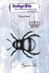 Giant Bee A6 Red Rubber Stamp