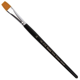 Gold Line Artist Brush - Size 12 flat