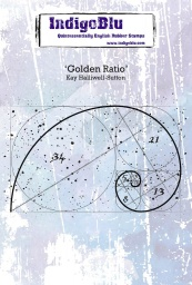 Golden Ratio A6 Red Rubber Stamp by Kay Halliwell-Sutton