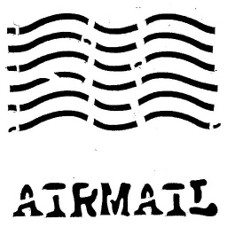 Inky Dink Stencil - Air Mail (3x3 inch)