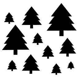 Inky Dink Stencil - Christmas Trees (3x3 inch)