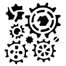 Inky Dink Stencil - Cogs (3x3 inch)