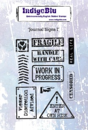 Journal Signs I A6 Red Rubber Stamp by Kay Halliwell-Sutton