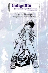 Lost in Thought A6 Red Rubber Stamp
