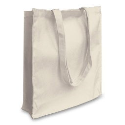 Natural Canvas 12oz Tote Bag with Long Handles and Gusset (380x400x100mm)