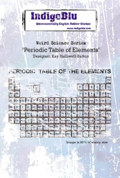 Periodic Table A6 Red Rubber Stamp by Kay Halliwell-Sutton