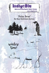 Polar Bear A6 Red Rubber Stamp