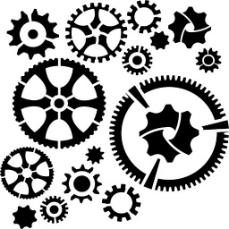 Stencil - Cogs and Gears (6x6 inch)