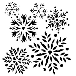 Stencil - Damaged Snowflakes (6x6 inch)