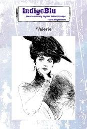 Valerie A6 Red Rubber Stamp