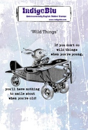 Wild Things A6 Red Rubber Stamp