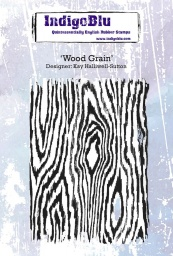Wood Grain A6 Red Rubber Stamp by Kay Halliwell-Sutton
